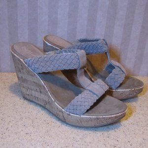 MIA Braided Cork Wedge Heel (Shauna) Shoes 8M
